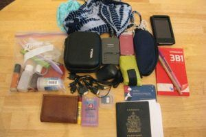 Preparing for the No Baggage Challenge; everything I travel with