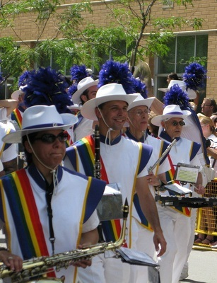 marching band performers