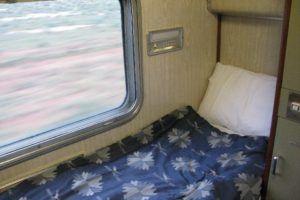sleeping on trains