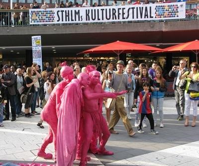 pink alien invasion in Stockholm at the Kultur Festival!