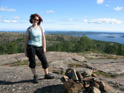 Nora Dunn, The Professional Hobo in northern Sweden at the perfect picnic spot
