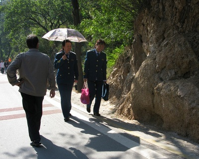 people walking in Beijing