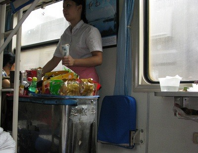 food cart on the train