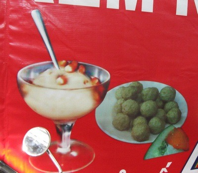 fish balls and ice cream