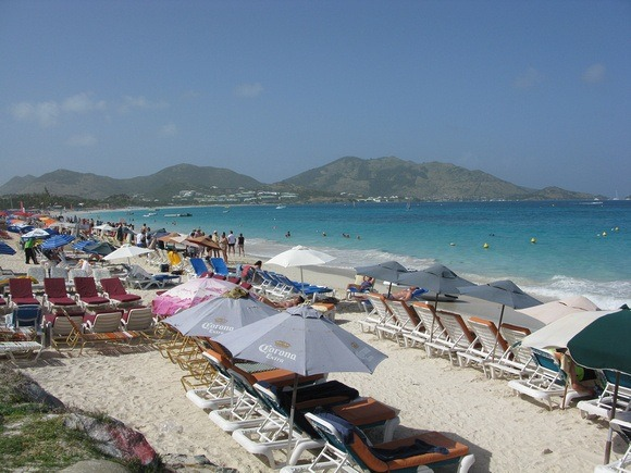 Orient Beach, on the east coast of St Martin