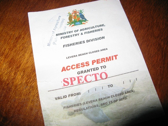 SPECTO permit