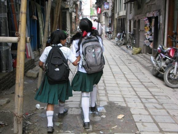school kids in Nepal