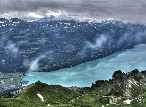 Swiss Alps as seen from the summit of Mount Rothorn