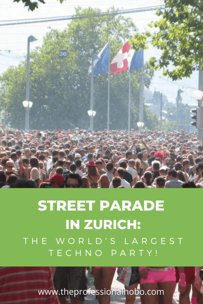 Street Parade in Switzerland's Zurich is the largest techno party in the world. Check it out! #Switzerland #Zurich #StreetParade #technoparty #TheProfessionalHobo #summerfestival