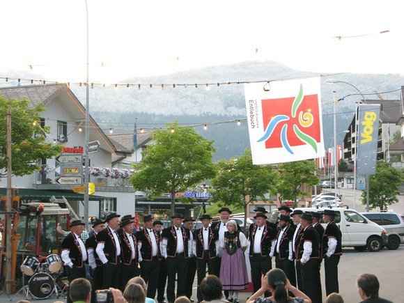 Yodellers in Sorenberg on Swiss National Day