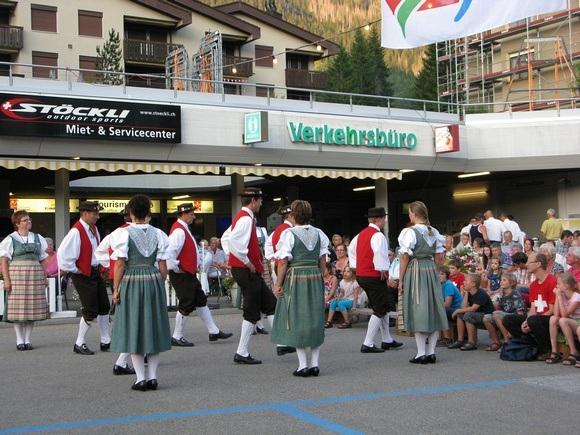 Traditional swiss dancers