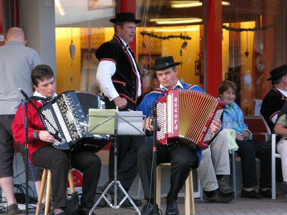 Accordion players in Switzerland