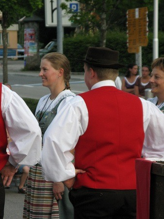 Traditional Swiss Garb on Swiss National Day