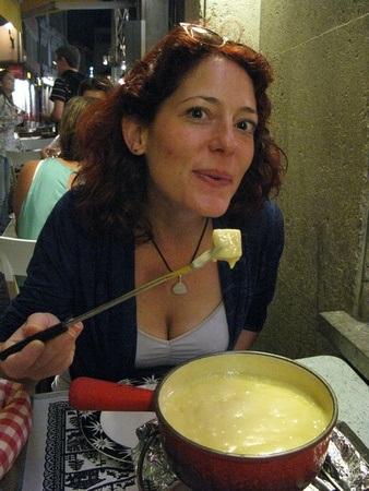 eating fondue in Switzerland