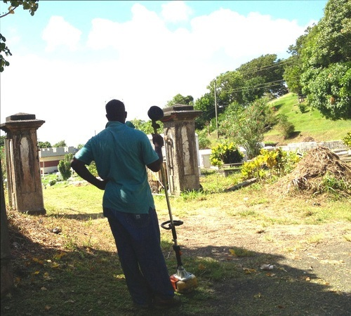 Clearing the cemetery