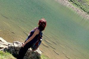 gazing at a Swiss glacial lake