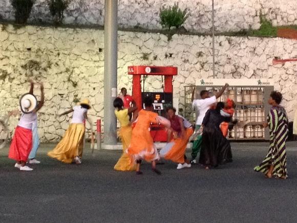 colourful Grenada street parade in full swing