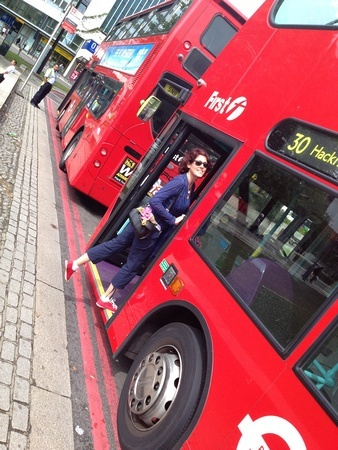 Stepping onto a London Bus