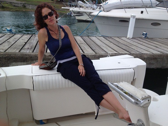 Nora Dunn on a boat in Grenada: The Land and Sea Life
