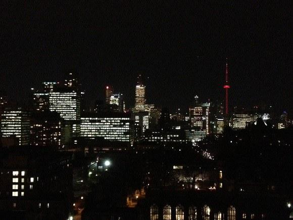 Toronto downtown skyline at night