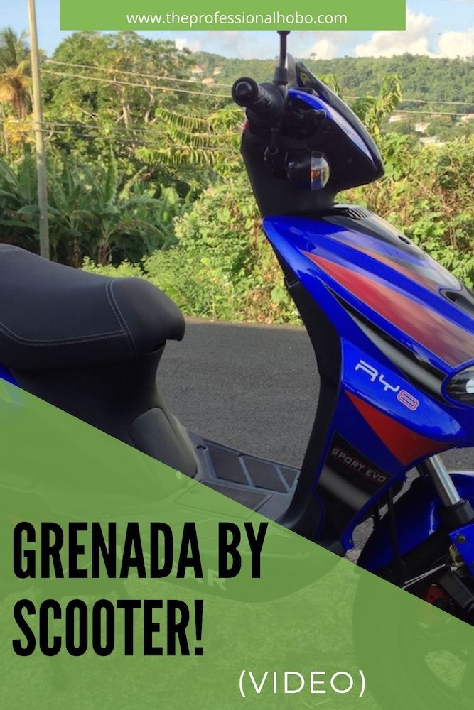 Grenada by scooter - this is the best way to get around the Caribbean Island of Grenada! Here's why, with a video tour. #Grenada #Caribbean #Scooter #roadtrip #driving #TheProfessionalHobo