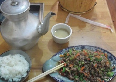 Yak Butter Tea and Spicy Yak Meal