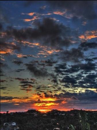 grenada island at sunset