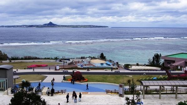 Okinawa Japan overlooking the sea