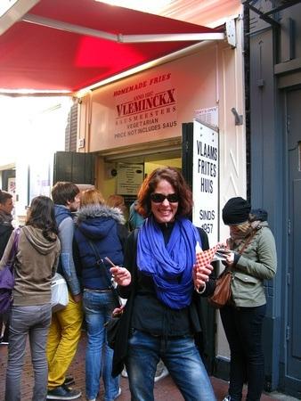 Enjoying a food tour in Amsterdam