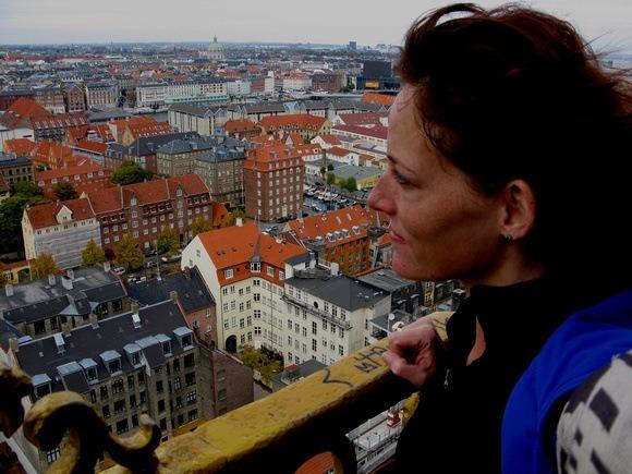 Admiring Copenhagen from above