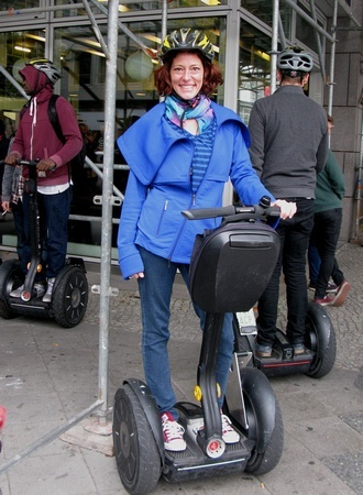 Doing a Segway tour in Berlin