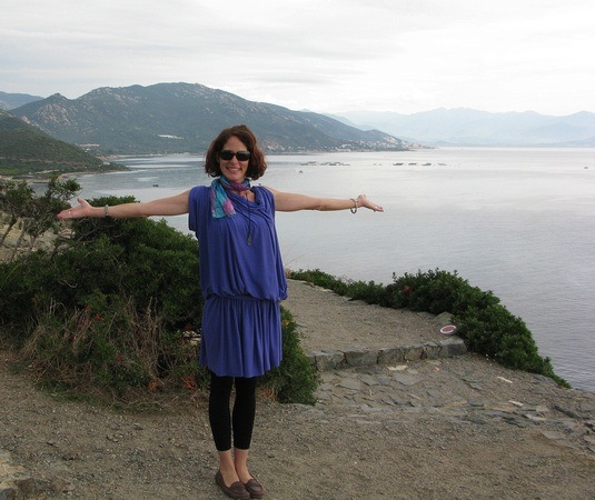 Enjoying the warmth in Corsica on my Global Traveler adventure