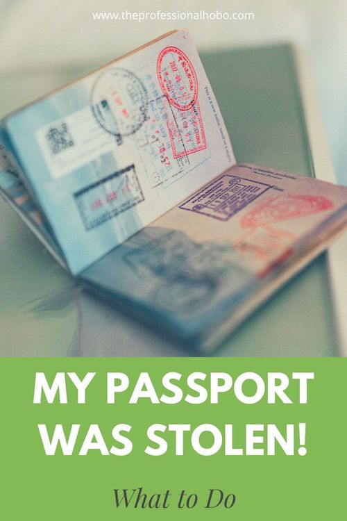 My Passport Was Stolen under terrible circumstances. Here's what happened, and what to do when something like this happens to you (which hopefully it won't). #passport #traveltheft #theft #travelsafety #travelsecurity #Traveltips #TheProfessionalHobo
