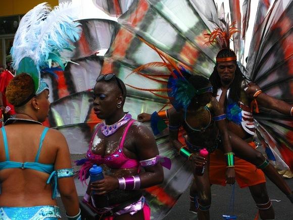 Carnival dancers in Grenada