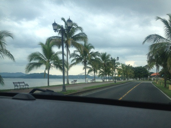 Amador causeway in Panama; all reclaimed land