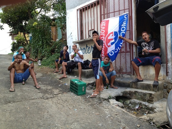 fishermen from Veracruz Panama hanging out and drinking