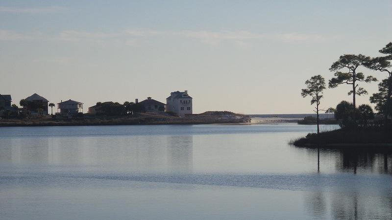 reflective water off the coast of Santa Rosa Beach