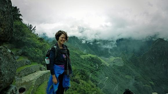 The Professional Hobo at the Sun Gate at Machu Picchu, Peru