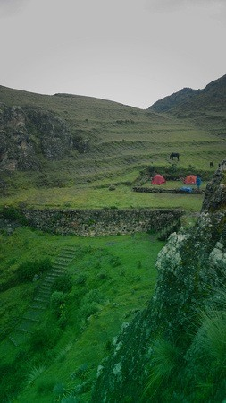 camping on Incan ruins