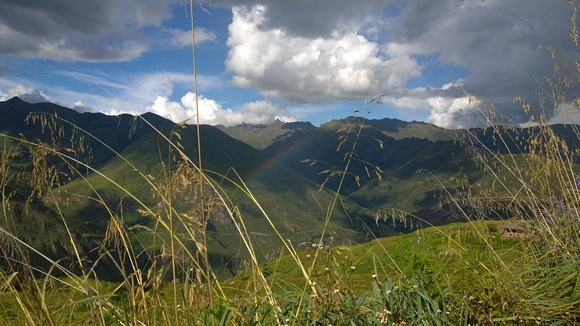 rainbow over the Sacred Valley of Peru