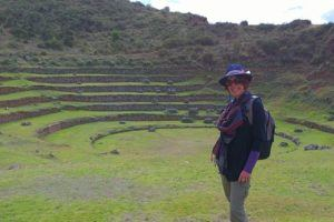 the Inca Ruins of Moray, in the Sacred Valley of Peru