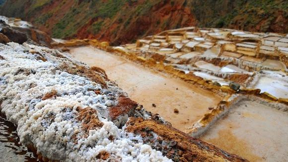 Salt Mines Maras in Peru