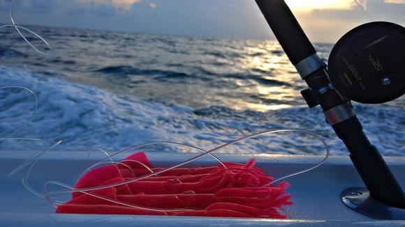 deep sea fishing reel and lures in the Florida Keys