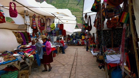 Pisac market in Peru, where negotiation can help - or hurt - the local economy, depending on how you do it
