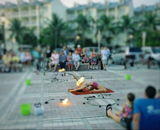 fire performer at Sunset Celebration, Key West, Florida Keys