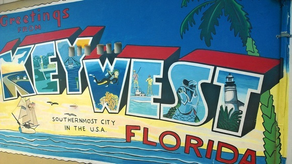 Key West Florida sign; the southernmost of all the Florida Keys