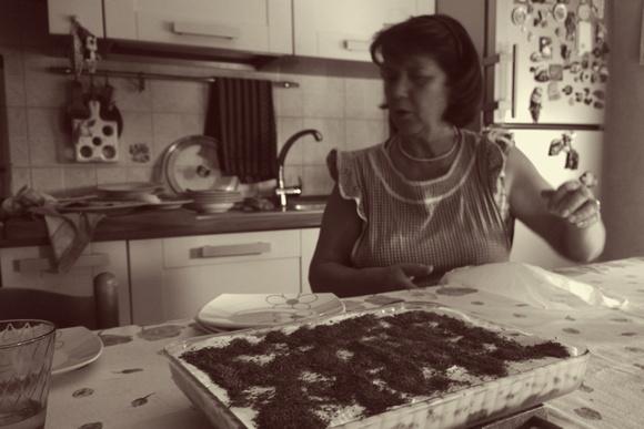 Italian Mamma with homemade Tiramisu