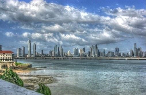 Panama city skyline in 2013