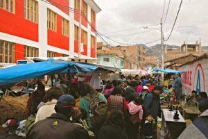 Barratio market in Cusco Peru
