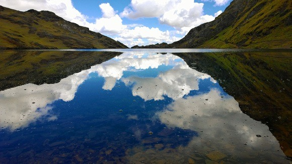 Kinsa Cocha lakes in the high Andes of Peru